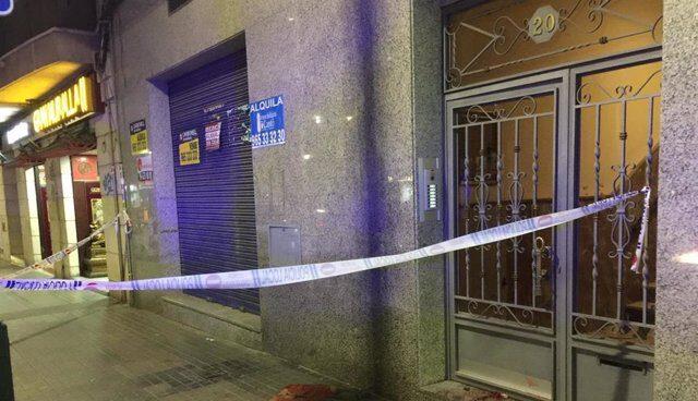 Escena del crimen en Alcoi.