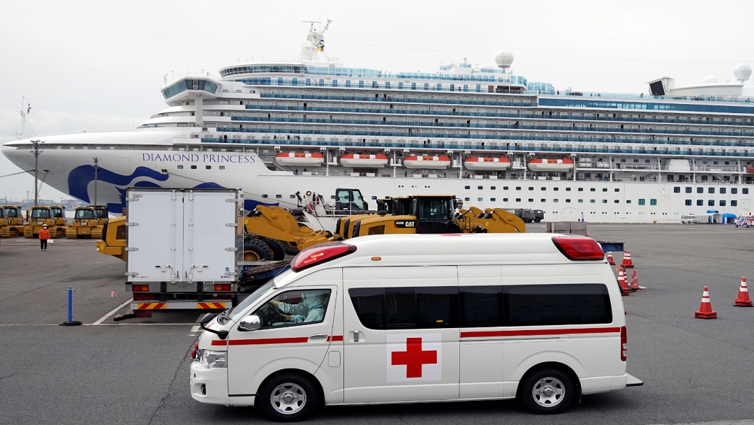 El crucero Diamond Princess, en Yokohama (Japón).