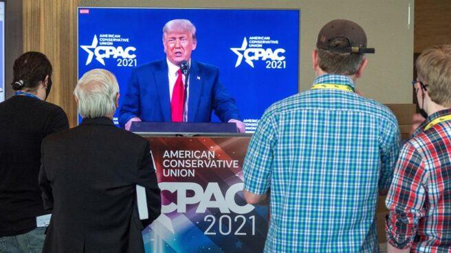 Donald Trump, durante su intervención ante la convención republicana.