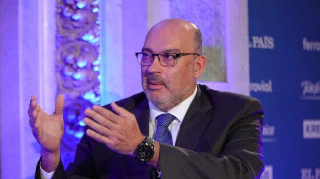 Emilio Gayo, presidente de Telefónica España, durante una charla de innovación