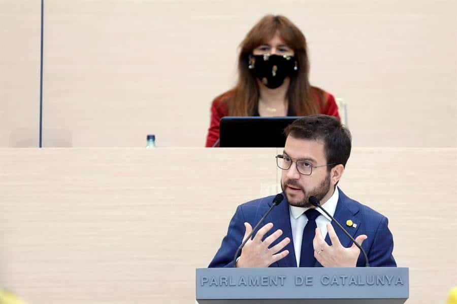 Pere Aragonés defiende su candidatura a lainvestidura