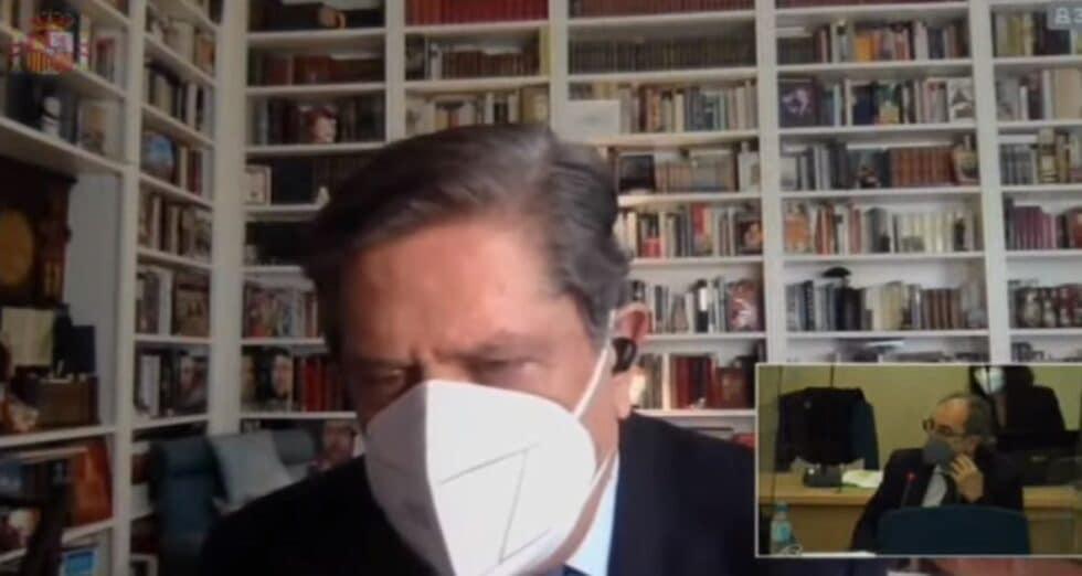 Federico Trillo declara de forma telemática como testigo en la Audiencia Nacional.