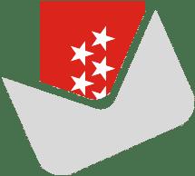 Icono de un sobre con una bandera de la Comunidad de Madrid