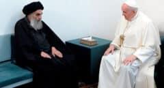 Encuentro histórico del Papa Francisco y el gran ayatolá chií Al Sistani en Nayaf