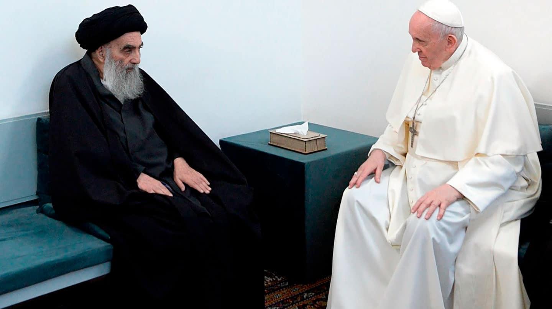 El Papa conversa con el gran ayatolá chií Al Sistani
