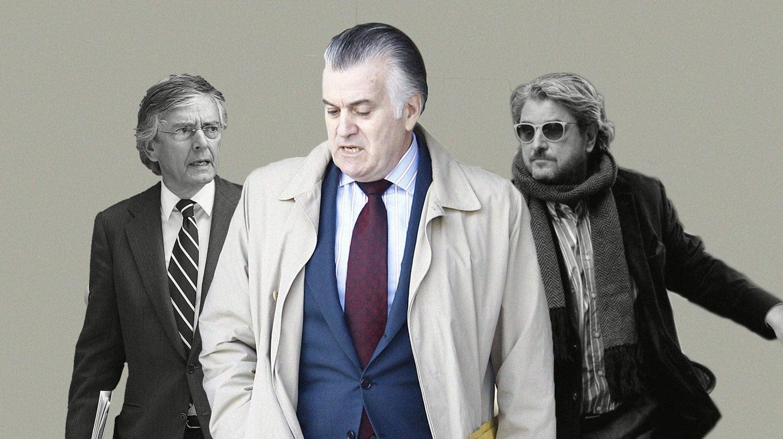 Imagen de tres de los imputados en el caso Bácenas