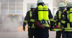 Un grupo de bomberos en una intervención