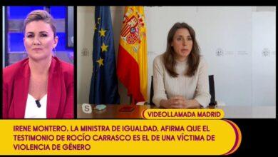 """Irene Montero denuncia en 'Sálvame' la """"justicia patriarcal"""" tras el testimonio de Rocío Carrasco"""