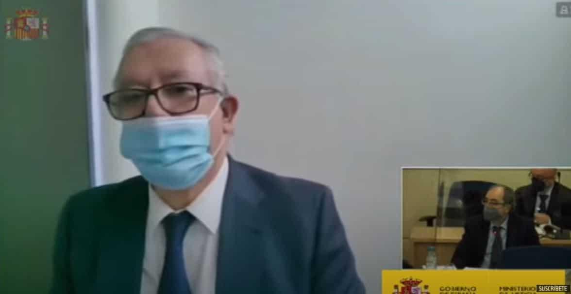 Javier Arenas declara de forma telemática como testigo en la Audiencia Nacional.