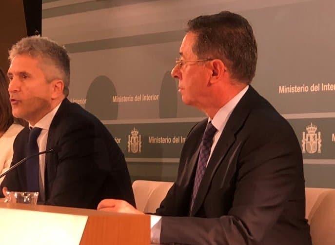El comisario José Antonio Rodríguez, en una comparecencia junto al ministro Grande-Marlaska.