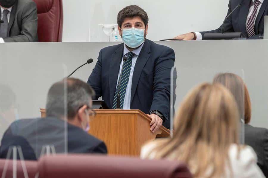 Fernando López Miras, en la Asamblea murciana.