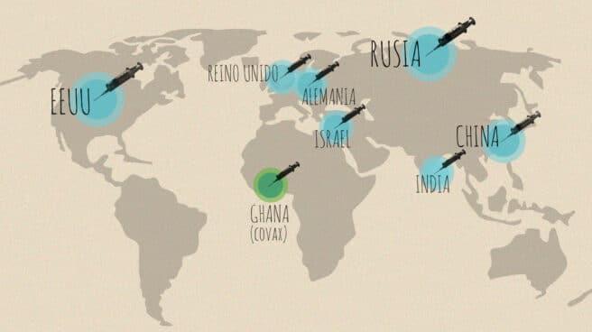 Imagen países de EEUU punteros en vacunación