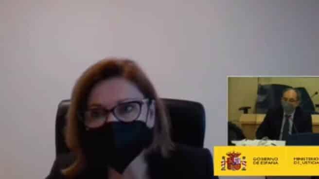 María Dolores de Cospedal declara de forma telemática como testigo en la Audiencia Nacional.