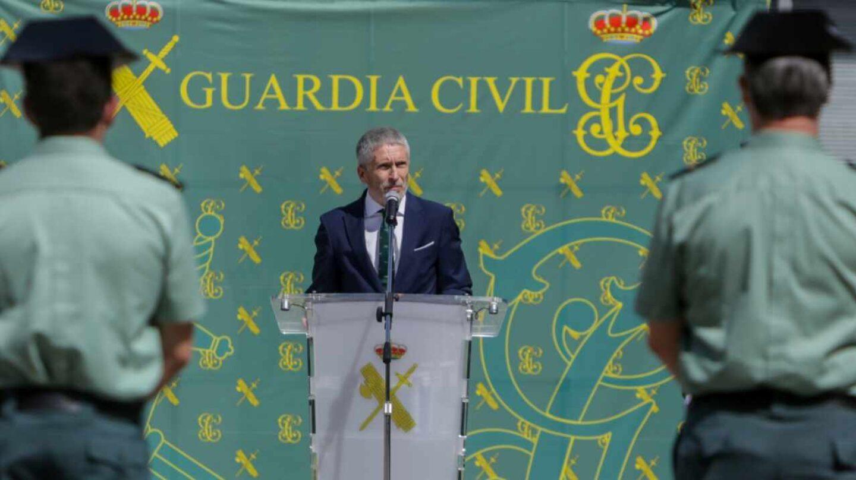El ministro del Interior, Fernando Grande-Marlaska, en un acto oficial de la Guardia Civil.
