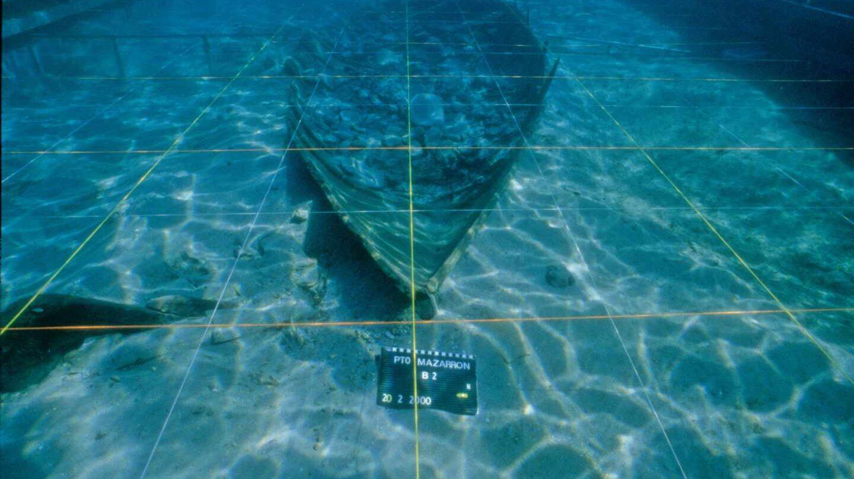 Restos del pecio de barco fenicio