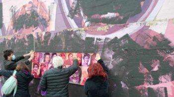 El mural feminista de Ciudad Lineal aparece vandalizado