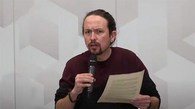 Pablo Iglesias, en un acto de Podemos este domingo.