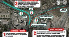 Estas son las zonas afectadas por las nuevas obras en el Nudo Norte de Madrid