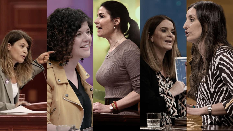 Imagen de las portavoces de igualdad de distintos partidos