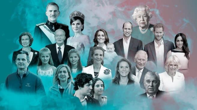 Imagen de la realeza española y la realeza inglesa