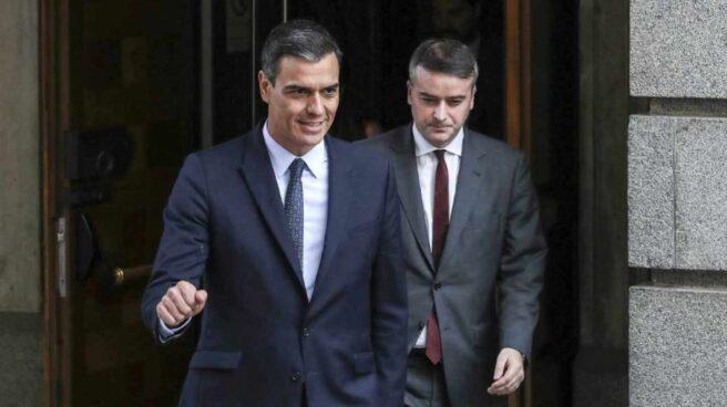 Pedro Sánchez e Iván Redondo.