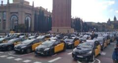 Los taxistas paralizan el centro de Barcelona en protesta contra Uber