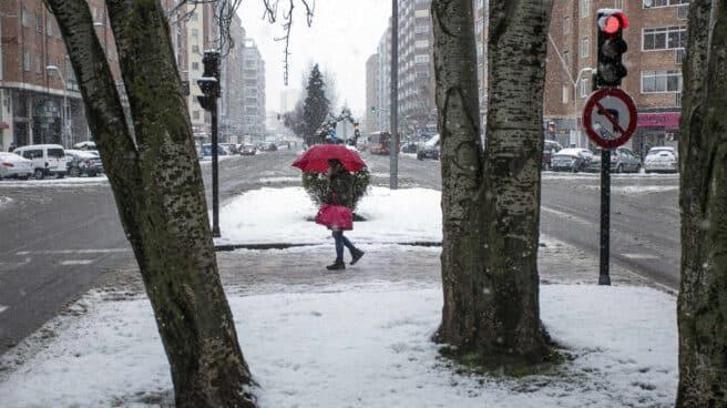 Temporal de nieve en Burgos.