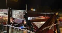 Un coche se estampa contra una terraza de un restaurante en Majadahonda (Madrid)