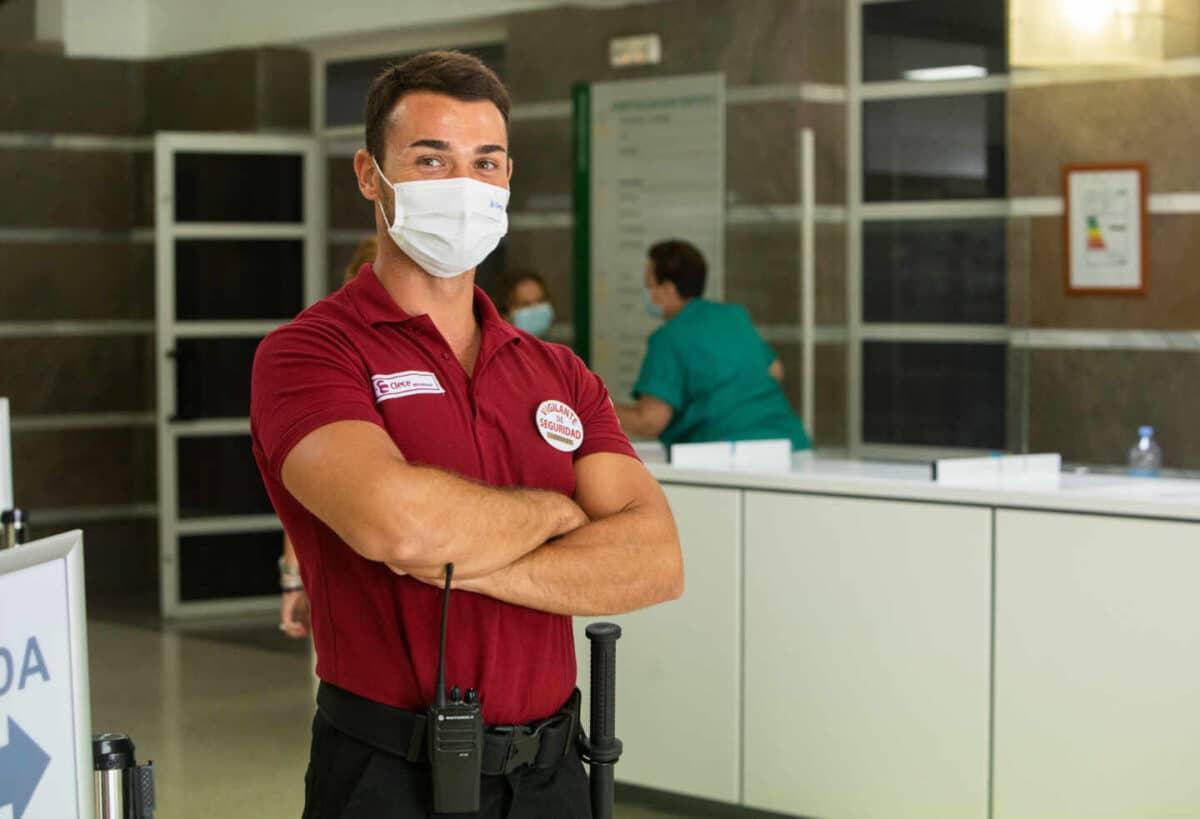 Los vigilantes de seguridad han sido una profesión clave durante la pandemia