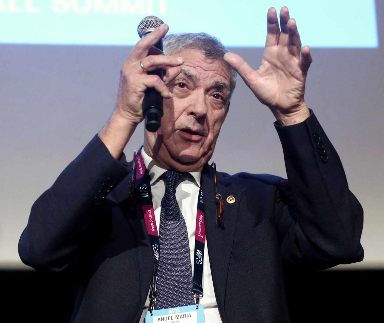 Ángel María Villare, ex presidente de la Real Federación Española de Fútbol (RFEF), en una comparecencia.