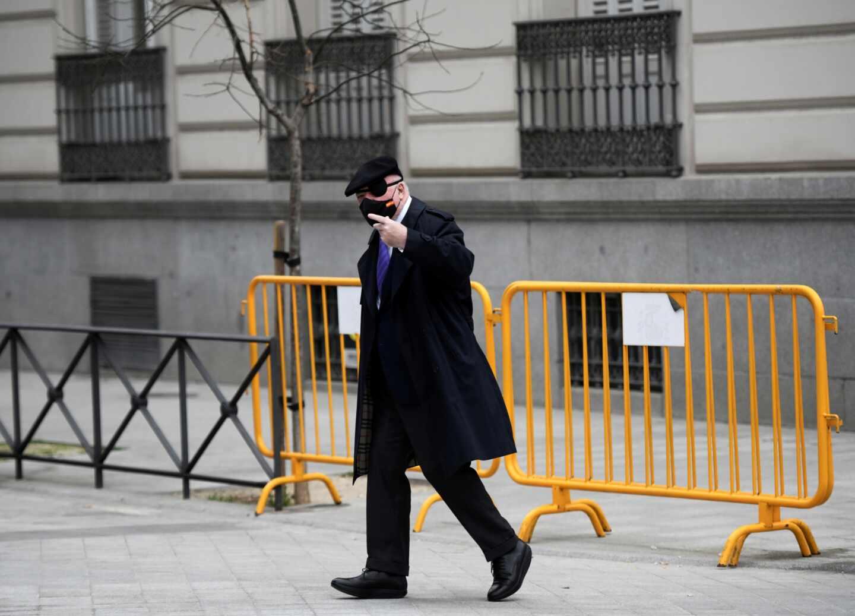 El comisario jubilado José Manuel Villarejo, a su llegada este jueves a la Audiencia Nacional para declarar.