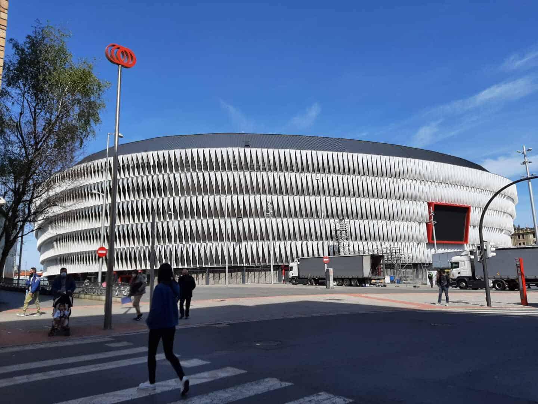 Estadio de San Mamés en Bilbao.