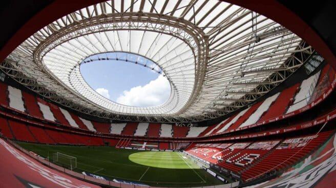 Interior del estadio de San Mamés en Bilbao.