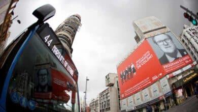 La Junta Provincial de Madrid ordena retirar el cartel gigante de Gabilondo en Callao