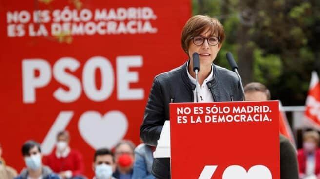 La directora de la Guardia Civil, María Gámez, en un mitin del PSOE en Vallecas.