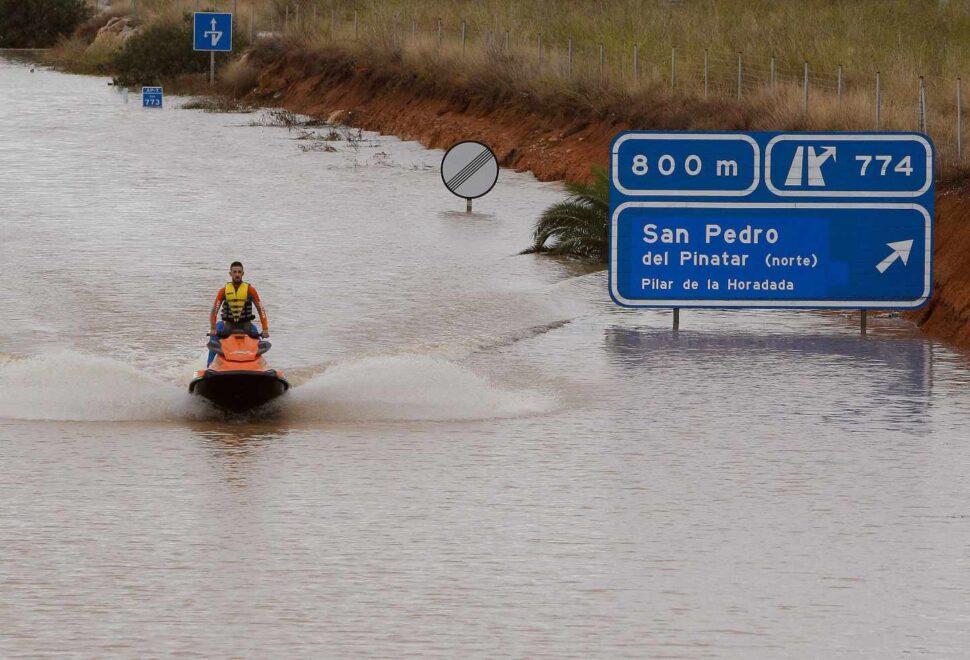 Murcia vivió en 2019 su peor gota fría. El cambio climático aumenta la frecuencia de estos fenómenos un 25%.