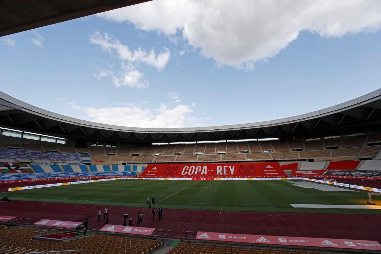 Vista del estadio de La Cartuja de Sevilla,