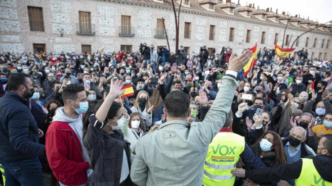 Elecciones 4-M: Monasterio y Abascal, en San Fernando de Henares.