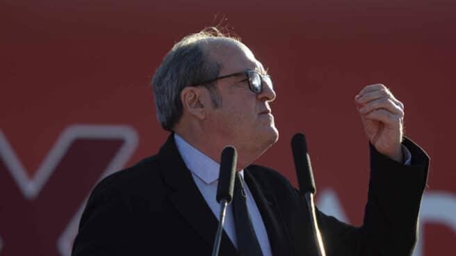 El candidato del PSOE a la Presidencia de la Comunidad de Madrid, Ángel Gabilondo, en Hortaleza.