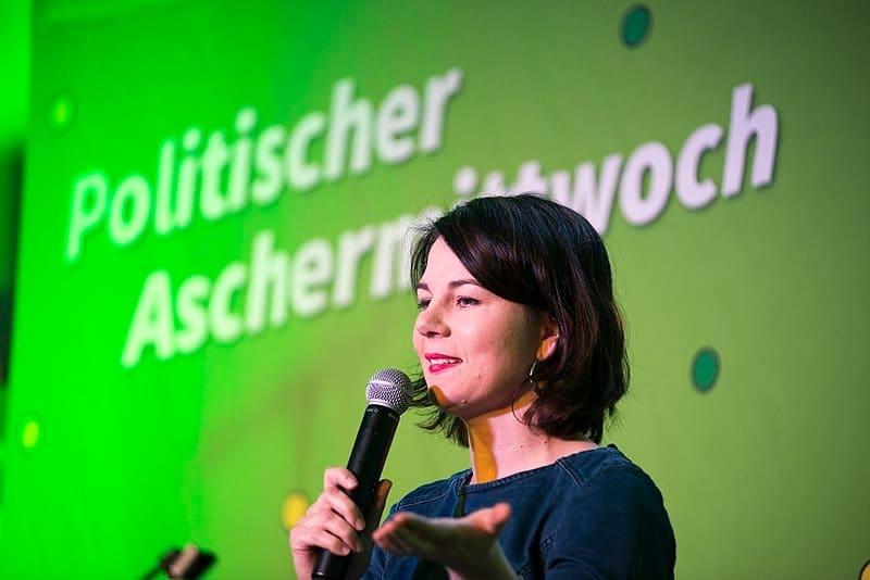 La líder de los Verdes alemanes, Annalena Baerbock, en una alocución reciente