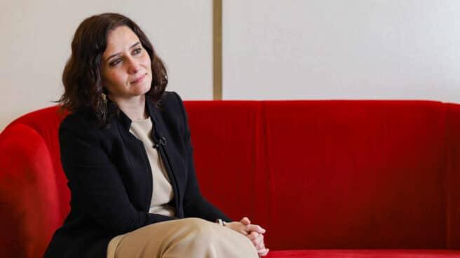 La presidenta de la Comunidad de Madrid, Isabel Díaz Ayuso, durante su entrevista con El Independiente