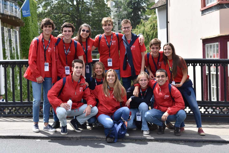 Alumnos premiados con las Becas Europa Santander-UFV.