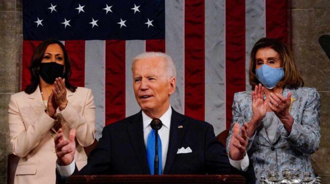 """Biden, en el Congreso: """"Vamos a demostrar que la democracia funciona"""""""