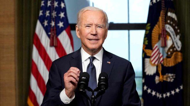 Joe Bide, presidente de Estados Unidos, en su alocución desde la Casa Blanca