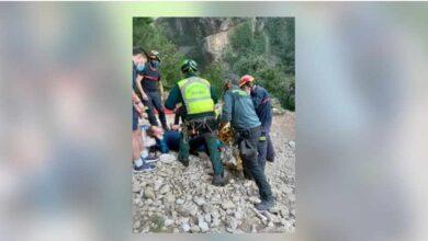 Rescatan en helicóptero a una mujer herida en la ruta del río Borosa