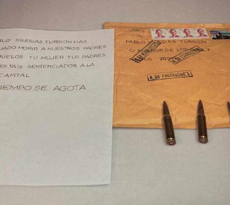 Archivada la investigación por el envío de cartas amenazantes a Iglesias, Marlaska y María Gámez