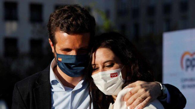 Casado y Ayuso en el arranque de la campaña del 4-M en Madrid.