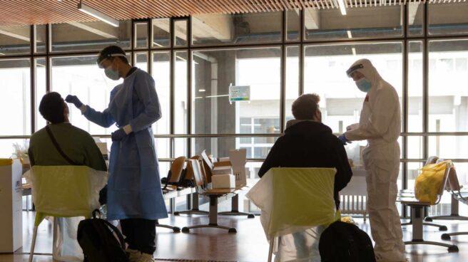 Pruebas contra el coronavirus en el campus de Bellaterra de la Universidad Autónoma de Barcelona (UAB).