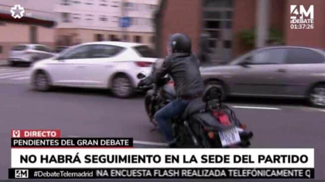 Edmundo Bal en moto