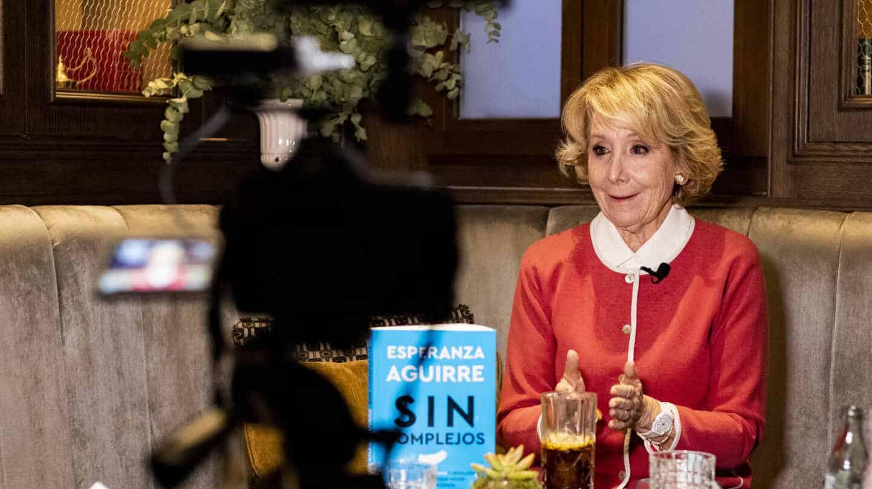 Esperanza Aguirre, durante su entrevista con El Independiente en Madrid